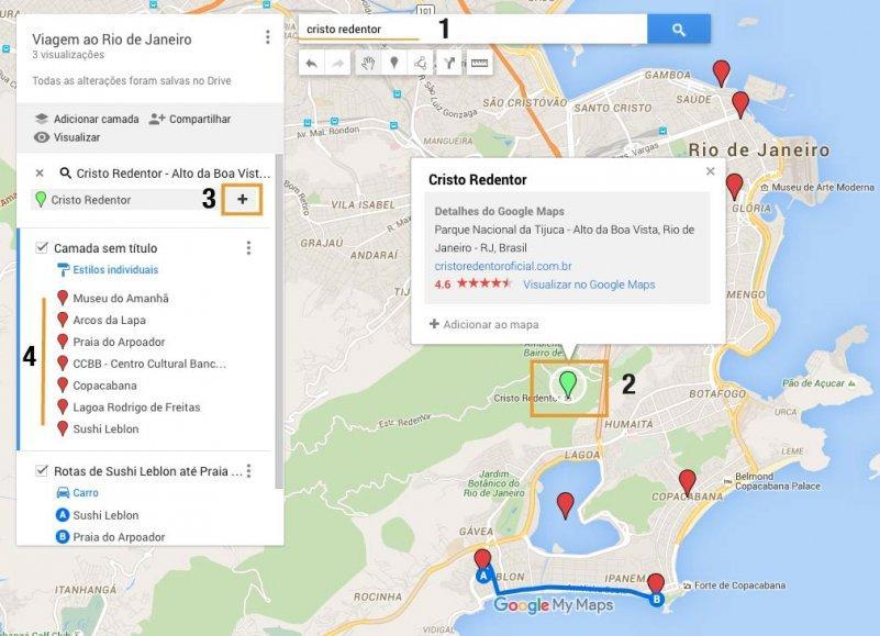 Como usar o Google Maps para montar seu roteiro de viagem